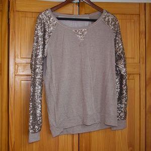 Maurices Sequin-sleeved Sweatshirt